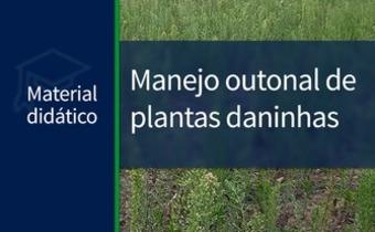 Manejo outonal de plantas daninhas